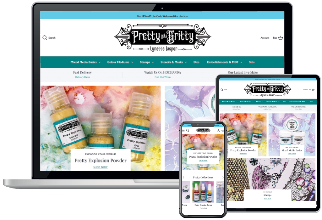 Pretty Gets Gritty website